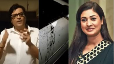 "Photo of ""Yuva Congress Zindabad,"" Alka Lamba cheers as Arnab Goswami and his spouse get attacked"
