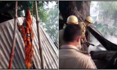 Bengal: BJP office in North 24 Parganas district set on fire