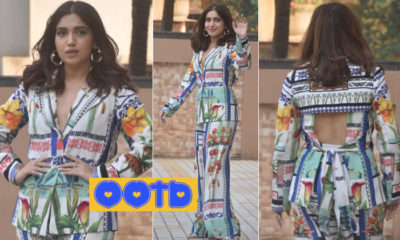 Bhumi Pednekar brings back her boss lady vibes in a floral suit, but it has a twist - view pics to find out! | Bollywood Bubble