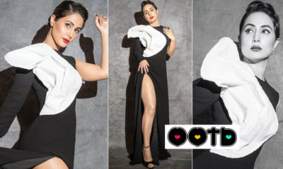 Hina Khan rocks the ultimate retro look in her black and white outfit - view pics | Bollywood Bubble