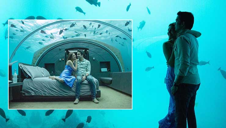 Kajal Aggarwal and Gautam Kitchlu are having a blast in a lavish underwater room-view pics | Bollywood Bubble