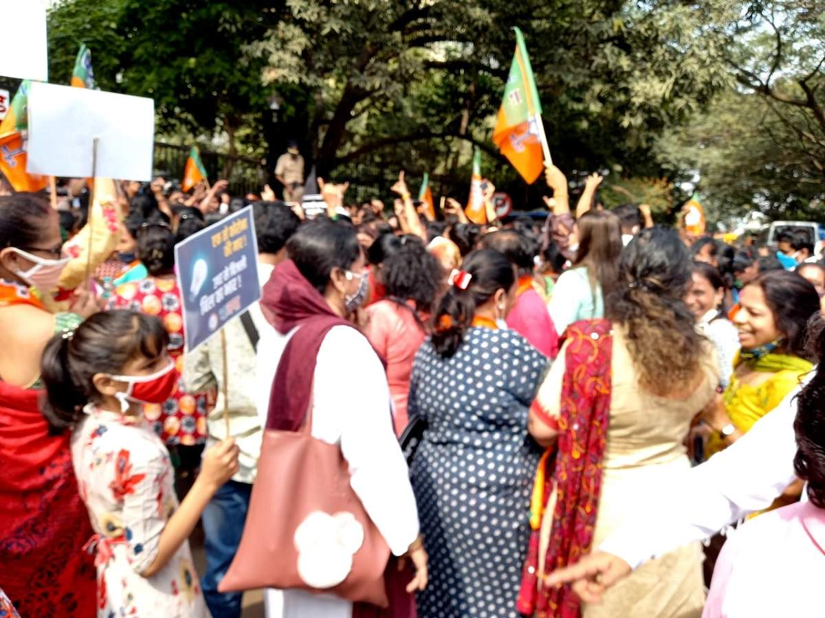 Maharashtra gvt refuses to waive electricity bills as promised, BJP protests