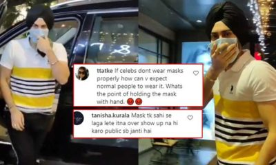 "Neha Kakkar's husband Rohanpreet Singh slammed for not wearing mask properly; netizens ask, ""What's the point of holding mask in hand?"" 