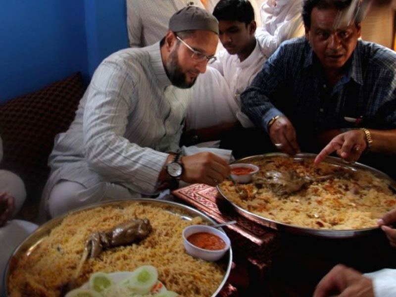 Owaisi 'offers' beef biriyani to BJP leaders who have come to Hyderabad for GHMC poll campaign